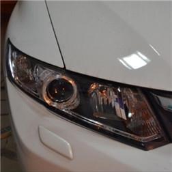本田新思域改装海拉3双光透镜 LED天使眼