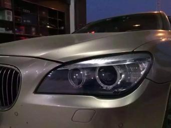 宝马7系10款改13款车灯总成白光天使眼