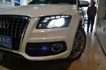 奥迪Q5大灯改装进口海拉5透镜欧司朗氙气灯