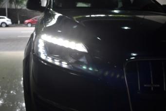 奥迪Q7车灯改装升级海拉透镜老款改新款大灯尾灯LED日行灯