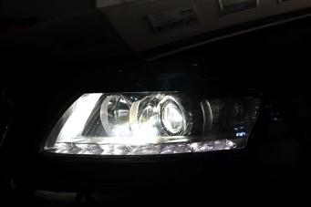 奥迪A6大灯总成08款奥迪A6L改10款大灯奥迪原装氙气灯奥迪A6改灯重庆改灯