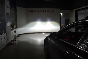 奥迪A6L车灯改装海拉5透镜欧司朗氙气灯