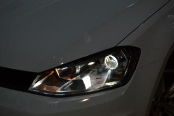 高尔夫7车灯改装Q5海拉5双光透镜氙气灯