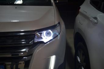 进口锐界改装天使眼海拉5透镜欧司朗氙气灯飞利浦氙气灯