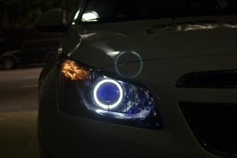 15款科鲁兹车灯改装天使眼双光透镜氙气灯