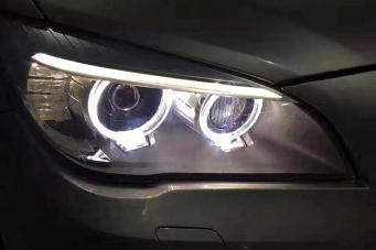 宝马7系大灯总成宝马740老款改新款氙气大灯