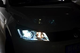 大众捷达大灯总成13款捷达氙气大灯捷达改装双光透镜