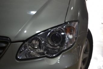 BYD F3车灯改装双光透镜氙气灯