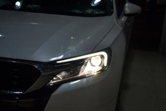 DS6车灯改装海拉透镜欧司朗氙气灯飞利浦氙气灯