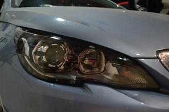 16款标致408车灯改装氙气灯透镜