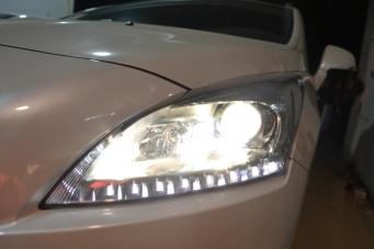 3008车灯改装进口海拉透镜欧司朗氙气灯