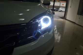 传祺GS5车灯改装透镜氙气灯天使眼