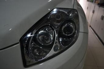 GX7车灯改装海拉透镜欧司朗氙气灯