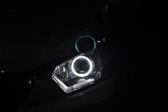 启程R40车灯改装透镜氙气灯天使眼