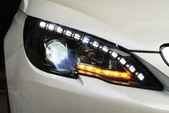 标致408原装款高配大灯总成408氙气大灯408前大灯