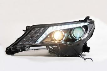 丰田RAV4大灯总成新款RAV4氙气大灯RAV4改装双光透镜