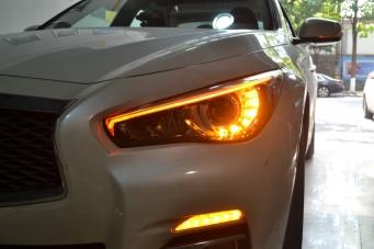 英菲尼迪Q50L车灯改装LED大灯总成