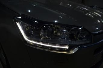 重庆雪铁龙C5车灯改装海拉透镜欧司朗飞利浦XV氙气灯LED日行灯