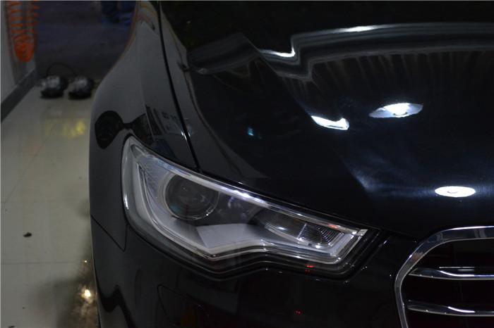 13款奥迪a6c7大灯总成氙气灯泡重庆哪里有卖重庆改灯新视点专业车灯