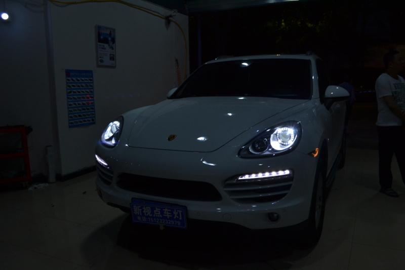 重庆改灯保时捷卡宴车灯改装海拉5透镜 飞利浦氙气灯欧司朗氙气灯日行