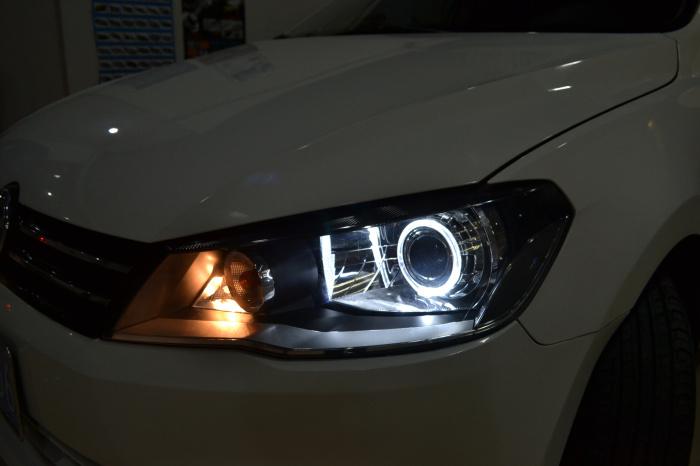 重庆捷达车灯改装透镜氙气灯天使眼欧司朗飞利浦